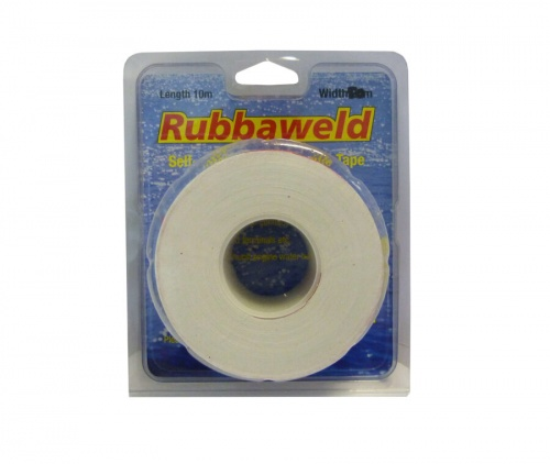 White 5m X 25mm Rubbaweld Self Amalgamating Marine Tape